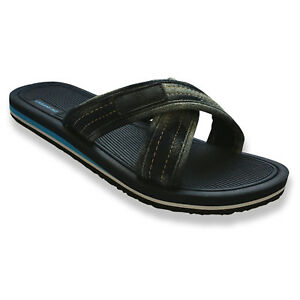 Mens-Comfortable-Canvas-Slides-Summer-Outdoor-Beach-Sandals-Indoor-Home-Slippers