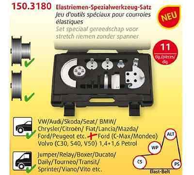 11-tlg KS TOOLS Elastriemen-Spezialwerkzeug-Satz 150.3180