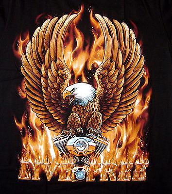 Tattoo Motiv Live To Ride T-shirt M L Xl Xxl Biker Adler Rider Clubwear 4175 Moderater Preis T-shirts Herrenmode