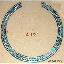 RS7# Rosette Inlay Paua Abalone & White Mother of Pearl 1.5mm thick for Guitar