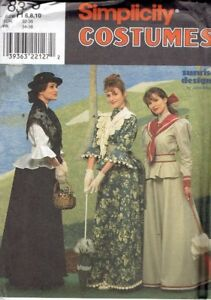 Victorian-Bustle-Skirt-Blouse-Steampunk-Size-6-10-Simplicity-8375-Sewing-Pattern