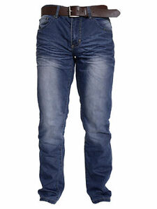 MENS-CROSSHATCH-CLASSIC-FIT-FASHION-JEAN-WITH-BELT-STYLE-FARROW-MID-WASH
