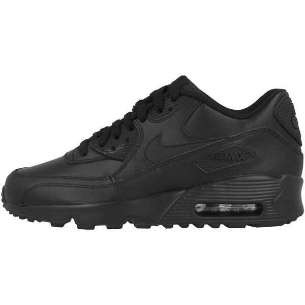 NIKE AIR MAX 90 Leather GS Total Black 833412 001 EUR 89