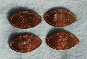 Lambert's Cafe Foley AL Pressed Elongated Pennies Copper Machine 1 Set Of 4