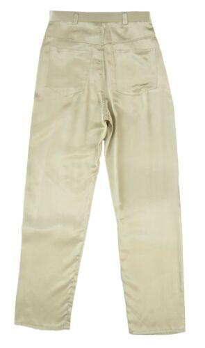 Women/'s new Black Gold satin look slim fit trouser 28 inch inside leg 6 to 10