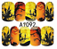Nail-Art-Stickers-Transfers-Decals-Halloween-Ghosts-Bats-Pumpkins-Skulls-Blood miniatuur 15