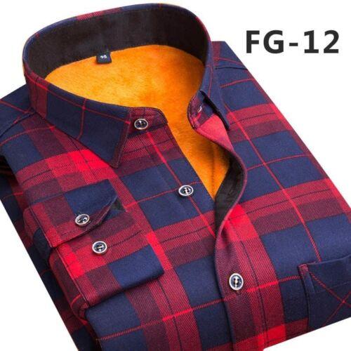 Slim Men/'s Shirt Long Sleeve Plaid Design Fit Clothes Soft Fashion Style Outfit