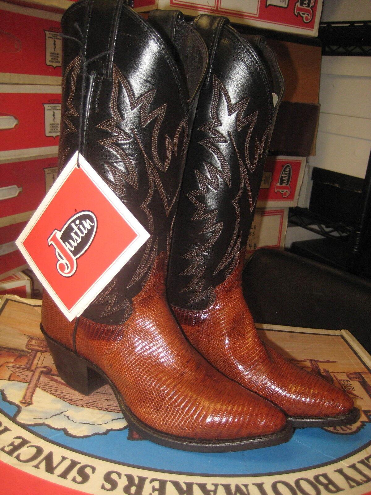 Justins womem's Brown Peanut Brittle Lizrard  Boot 4767  Size 5 B