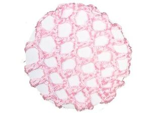 Pink-Ribbon-Knot-Bun-Hair-Net-Ballerina-Ballet-Dance-Gymnastics-Horse-Riding