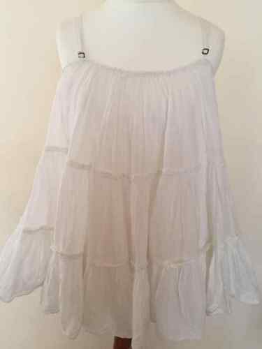 out White All Saints Top new Completely Summer Loose Sold Tiered B £115 Rare 08wOknP