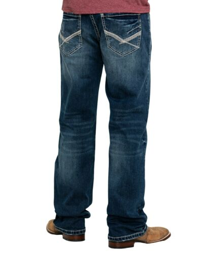 Rock /& Roll Cowboy Men/'s And Reflex Double Barrel Dark Vintage Relaxed Straight