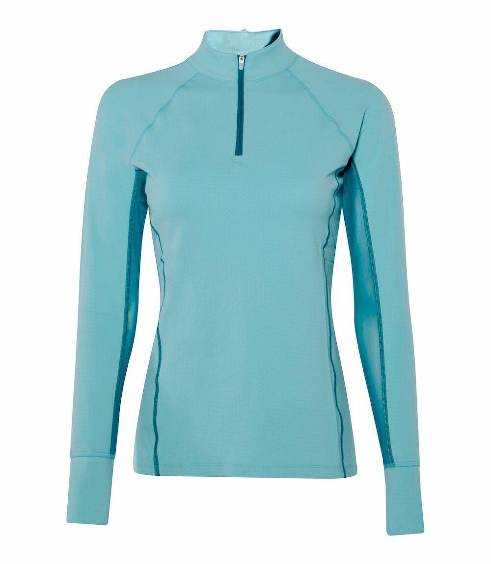 Noble Equestrian Ashley Long Sleeve Performance Shirt-XL-Antigua (Sea bluee)
