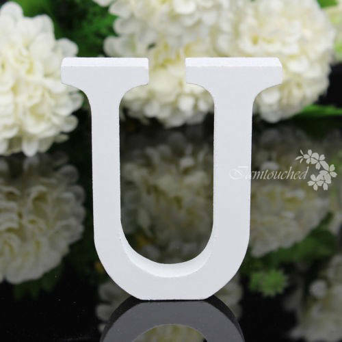 26 Wooden Wood Letter Alphabet Word Free Standing Wedding Party Home Decor Yc