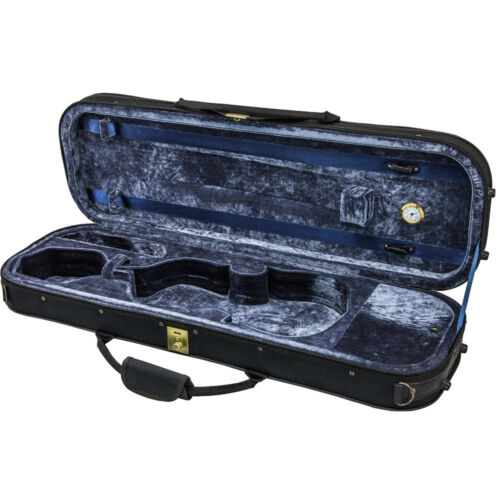 Lightweight Oblong Violin Case 4//4 Black//Navy
