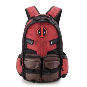 Image is loading Marvel-Deadpool-Bag-Movie-Anime-Around-Student-Red- 5cd30309f4f47