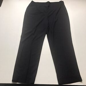 Talbots-Hollywood-Fit-Crop-Black-Dress-Pants-Size-16-28-Inseam-A602