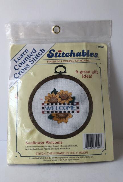 Cross stitch kit Stitchables Welcome