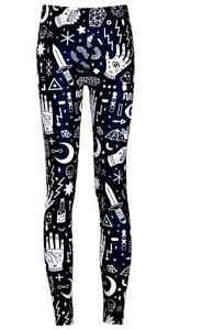 Black-and-White-Occult-Symbols-Hot-Gothic-Astrology-Bat-Cross-Ohm-Leggings