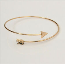 Adjustable Arrow Womens Simple Bangles Fadeless Charm Wire Bracelets Bangles
