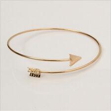 Adjustable Arrow Womens Simple Bangles Fadeless Charm Wire Bracelets Bangles