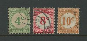 1924-1926-Numeral-Stamps-Postage-Due-Part-set-of-3-Used-Sold-as-per-Scan