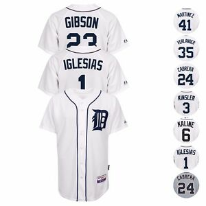 Detroit-Tigers-MLB-Authentic-On-Field-MAJESTIC-Cool-Base-Jersey-Collection-Men-039-s