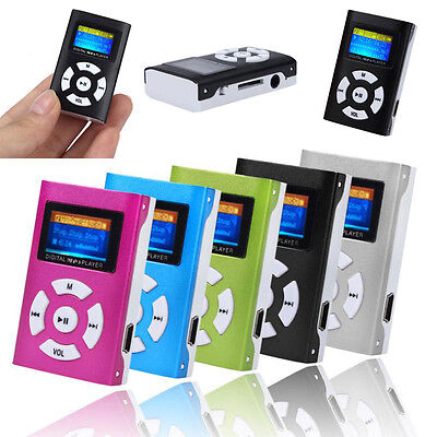 HOT SALE USB Mini STEREO MP3 Player LCD Screen Support 32GB Micro SD TF Card US