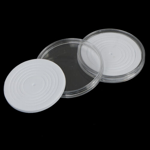 16-36mm Plastic Coin Holder Capsule Storage Case Display Box with Pad Ring JH