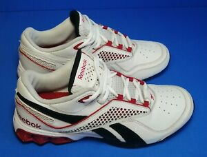 Reebok-Hexride-Men-s-Athletic-Shoes-Size-7-5-White-Red-Walking-Running-Casual