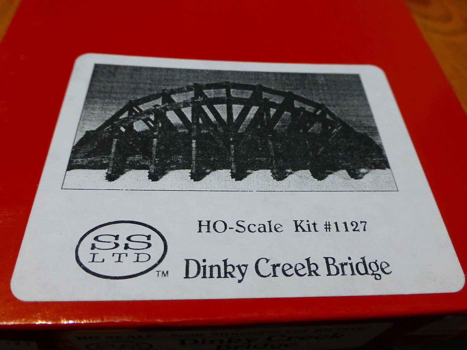 Scale Structures Ltd.  1127 Dinky Creek Bridge  Kit form  Craftsman  Wood & Cast