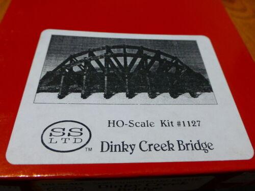 Scale Structures Ltd #1127 Dinky Creek Bridge Wood /& Cast Craftsman Kit form
