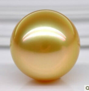 HUGE-15MM-PERFECT-ROUND-AAA-SOUTH-SEA-GENUINE-NATURAL-GOLD-LOOSE-PEARL-UNDRILLED