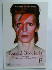 DAVID BOWIE - FLYER EXPOSITION PARIS EXHIBITION 2015 COLLECTOR aladdin sane