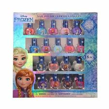 Disney Frozen Best Peel-Off Nail Polish Deluxe 18 Count Colors Some with Glitter