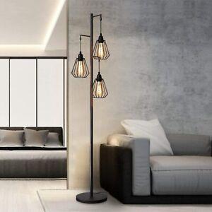 Stehlampe Wohnzimmer Vintage Stehleuchte Industrial Design ...