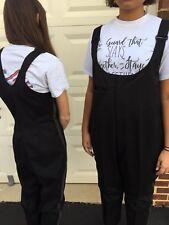 Black Marching Band Uniform Bibbers Bib Suspender Pants Male 48-30