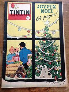 JOURNAL-TINTIN-530-France-1958-couv-Herge-RARE-avec-calendrier-1959