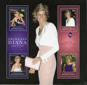 Micronesia 2011 MNH Princess Diana 1961-1997 50th Birth 4v M/S II Royalty Stamps