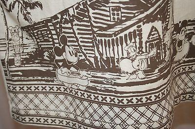 Mickey Disney Shirt Tiki Kingdom Tropical Scene Minnie Hula Donald Goofy Small