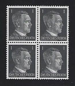 MNH-stamp-block-1941-Adolph-Hitler-PF01-Original-Third-Reich-Germany-Block