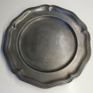 Etain-d-039-art-France-Vintage-decoration-collection-petit-assiette-Erve