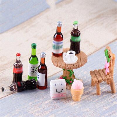 5XMini Beer Drinks Milks Dollhouse Miniature Play Food for  Doll Toys Pip LL