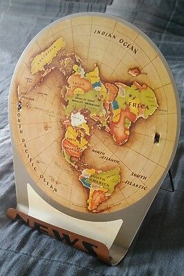 Maps collection on ebay 1953 azimuthal equidistant flat earth air age world map huge sale bargain rare gumiabroncs