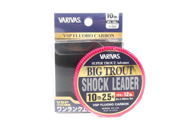 VARIVAS Fluorocarbon Big Trout Shock Leader Line 30m 10lb 5566 for sale online