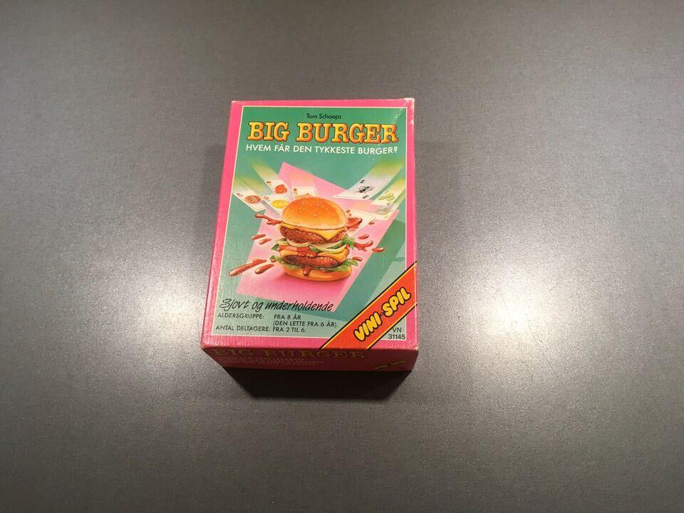 Big burger, Familiespil, kortspil