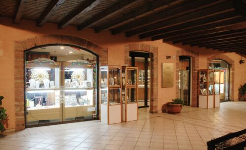ORECCHINI ORO GIALLO 750 18K ONDULATI E MARTELLATI CERCHIO MADE IN ITALY