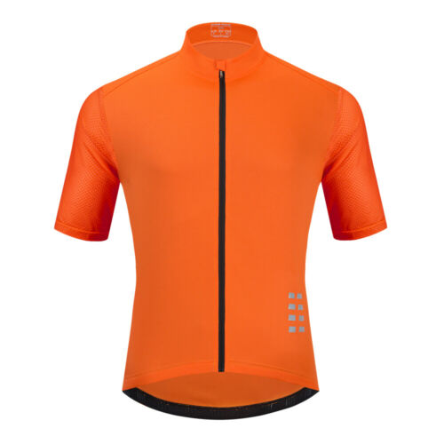 MAGLIE CICLISMO BICI TRASPIRANTI Camicia Completo Cerniera Bicicletta Top Racing Clothing