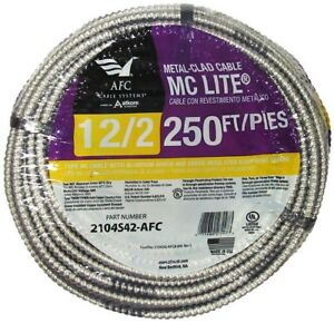 Incredible Afc Aluminum Mc Light Armored Cable 250 Ft 12 2 Solid Copper Wiring Wiring Digital Resources Hutpapmognl