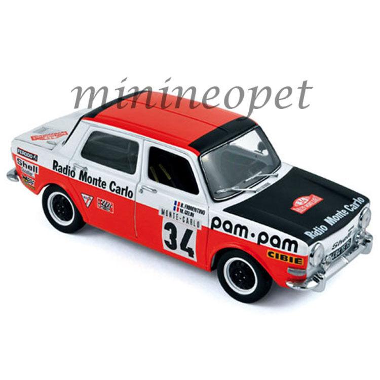 Norev 185707 Simca 1000 Rallye Montecarlo 1973 Fiorentino 1 18 rosso biancao