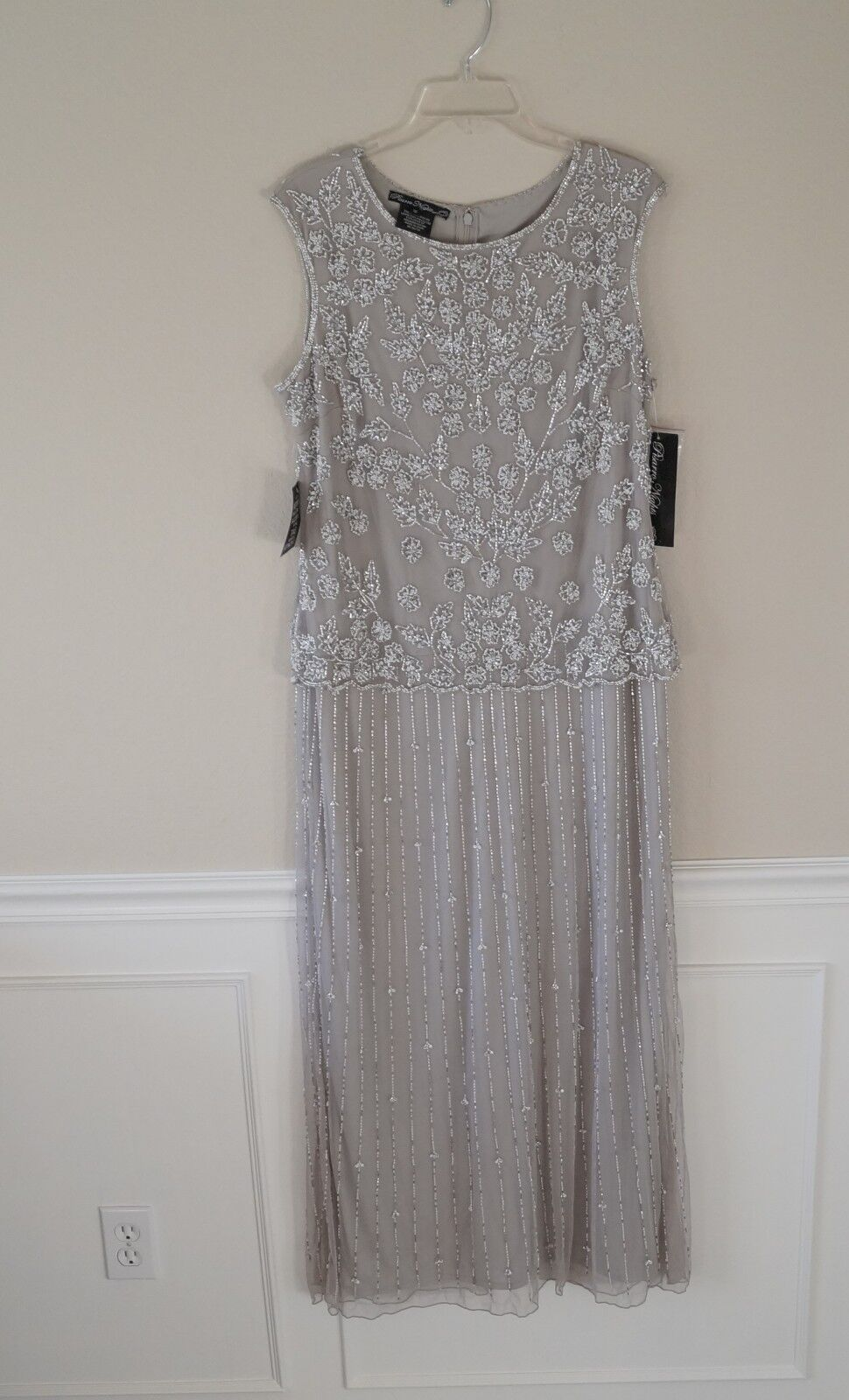 New Pisarro Nights Beaded Two Piece Gown Dress Size 14